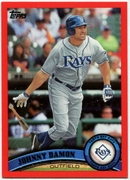 2011 Topps Factory Set Red Border Johnny Damon Baseball Card