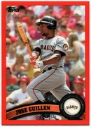 2011 Topps Factory Set Red Border Jose Guillen Baseball Card