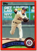 2011 Topps Factory Set Red Border Kevin Slowey Baseball Card