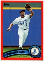 2011 Topps Factory Set Red Border Lorenzo Cain Baseball Card