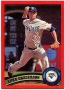 2011 Topps Factory Set Red Border Luke Gregerson Baseball Card