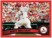 2011 Topps Factory Set Red Border Matt Holliday Baseball Card