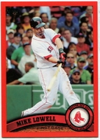 2011 Topps Factory Set Red Border Mike Lowell Baseball Card