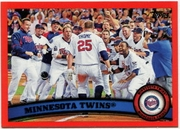 2011 Topps Factory Set Red Border Minnesota Twins Team Card Baseball Card