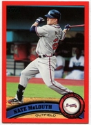 2011 Topps Factory Set Red Border Nate McLouth Baseball Card