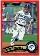 2011 Topps Factory Set Red Border Ryan Ludwick Baseball Card