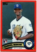 2011 Topps Factory Set Red Border Samuel Deduno Baseball Card