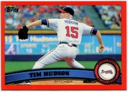 2011 Topps Factory Set Red Border Tim Hudson Baseball Card