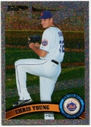 2011 Topps Foilboard Chris Young Baseball Card