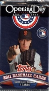 2011 Topps Opening Day Baseball Cards Pack