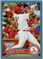2011 Topps Opening Day Blue Albert Pujols Baseball Card