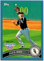 2011 Topps Opening Day Blue Alex Rios Baseball Card