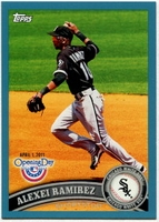 2011 Topps Opening Day Blue Alexei Ramirez Baseball Card