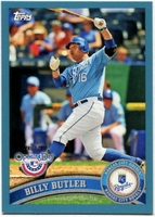 2011 Topps Opening Day Blue Billy Butler Baseball Card