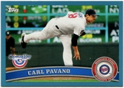2011 Topps Opening Day Blue Carl Pavano Baseball Card