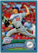 2011 Topps Opening Day Blue Clayton Kershaw Baseball Card