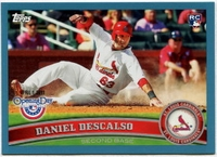 2011 Topps Opening Day Blue Daniel Descalso Baseball Card