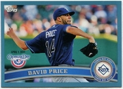 2011 Topps Opening Day Blue David Price Baseball Card