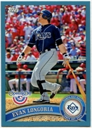 2011 Topps Opening Day Blue Evan Longoria Baseball Card