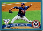 2011 Topps Opening Day Blue Francisco Liriano Baseball Card