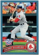 2011 Topps Opening Day Blue Jacoby Ellsbury Baseball Card
