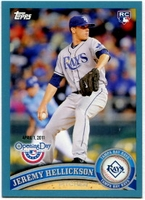 2011 Topps Opening Day Blue Jeremy Hellickson Baseball Card