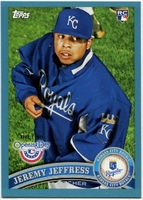 2011 Topps Opening Day Blue Jeremy Jeffress Baseball Card