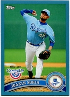 2011 Topps Opening Day Blue Joakim Soria Baseball Card