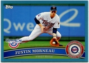 2011 Topps Opening Day Blue Justin Morneau Baseball Card
