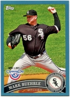 2011 Topps Opening Day Blue Mark Buehrle Baseball Card