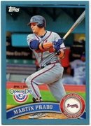 2011 Topps Opening Day Blue Martin Prado Baseball Card