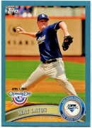 2011 Topps Opening Day Blue Mat Latos Baseball Card
