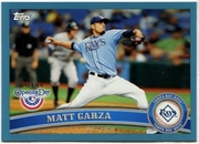 2011 Topps Opening Day Blue Matt Garza Baseball Card