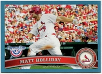 2011 Topps Opening Day Blue Matt Holliday Baseball Card