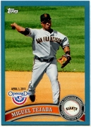 2011 Topps Opening Day Blue Miguel Tejada Baseball Card