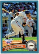 2011 Topps Opening Day Blue Pablo Sandoval Baseball Card