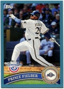 2011 Topps Opening Day Blue Prince Fielder Baseball Card