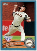 2011 Topps Opening Day Blue Tim Lincecum Baseball Card