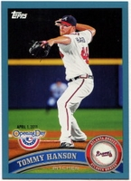 2011 Topps Opening Day Blue Tommy Hanson Baseball Card