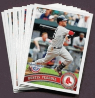2011 Topps Opening Day Boston Red Sox Baseball Cards Team Set