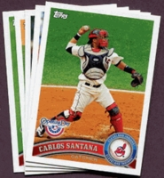 2011 Topps Opening Day Cleveland Indians Baseball Cards Team Set