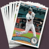 2011 Topps Opening Day Florida Marlins Baseball Cards Team Set