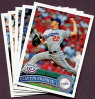 2011 Topps Opening Day Los Angeles Dodgers Baseball Cards Team Set