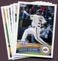 2011 Topps Opening Day Milwaukee Brewers Baseball Cards Team Set