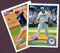 2011 Topps Opening Day San Diego Padres Baseball Cards Team Set