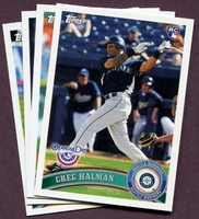 2011 Topps Opening Day Seattle Mariners Baseball Cards Team Set