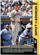 2011 Topps Opening Day Spot the Error Buster Posey Baseball Card