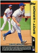 2011 Topps Opening Day Spot the Error David Wright Baseball Card