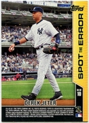 2011 Topps Opening Day Spot the Error Derek Jeter Baseball Card