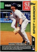2011 Topps Opening Day Spot the Error Mark Teixeira Baseball Card